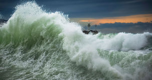 海运风暴 图库摄影