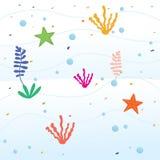 海里的动画片背景 向量例证