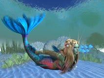 海里的美人鱼 皇族释放例证
