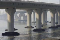 海链接桥梁吊桥 库存图片