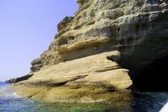 海陡峭的海岸 库存图片