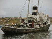 海难在乌斯怀亚,阿根廷 免版税库存照片
