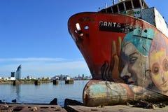 海难在蒙得维的亚 免版税库存图片