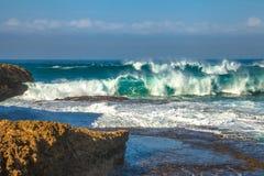 海难海岸波浪  库存照片