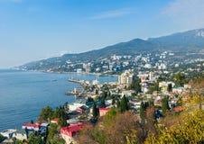 海风景。雅尔塔,克里米亚,乌克兰 免版税库存图片