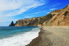 黑海风景海岸  库存照片