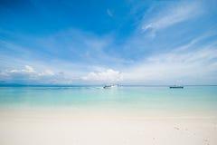 海风景看法反对天空的 库存照片