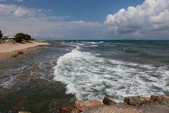 海风景,克利特Analipsi 图库摄影