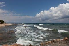 海风景,克利特Analipsi 库存图片