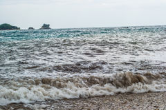 海风暴波浪 库存图片