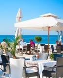 海餐馆的,克罗地亚人们 免版税库存照片
