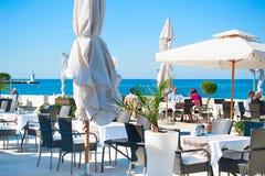 海餐馆,克罗地亚 免版税库存照片