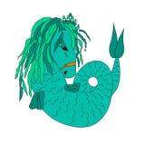 海马垂直,深水动物,与图画的一个动物,海马的例证 库存照片