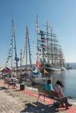 黑海高船赛船会2016年,瓦尔纳,保加利亚 免版税库存照片