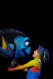 海鲂木偶在发现Nemo的动物界音乐 免版税图库摄影