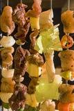 海鲜和肉烤肉 免版税库存照片