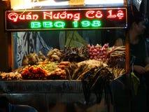 海鲜在夜市场,越南上 免版税库存图片