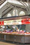 海鲜在室内主要市场上,西班牙 免版税库存图片