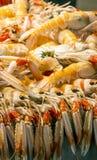 海鲜在市场上 免版税库存图片