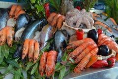 海鲜在海市场上 免版税图库摄影