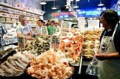 海鲜在派克集市,西雅图上 免版税库存照片