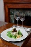 海鲜开胃菜用火箭沙拉 库存照片