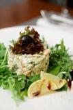 海鲜开胃菜用火箭沙拉 库存图片