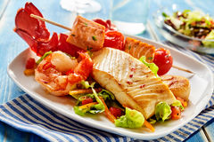 海鲜开胃菜的安排 库存照片