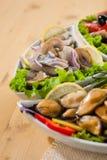 海鲜开胃菜 图库摄影