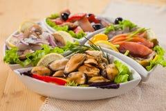 海鲜开胃菜 库存图片