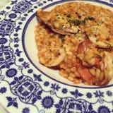 海鲜意大利煨饭 免版税库存图片