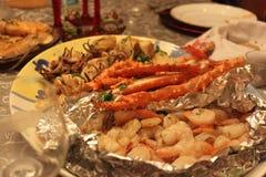 海鲜晚餐 免版税图库摄影