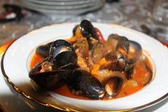 海鲜晚餐 免版税库存图片