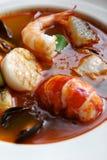 海鲜汤 免版税库存图片