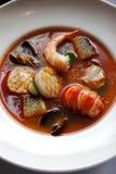 海鲜汤 库存照片
