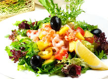 海鲜沙拉,虾 库存照片