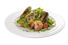 海鲜沙拉 一个传统西班牙盘 免版税库存图片