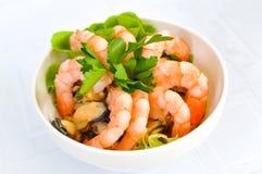 海鲜沙拉 免版税图库摄影