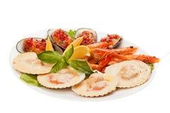 海鲜沙拉 免版税库存图片
