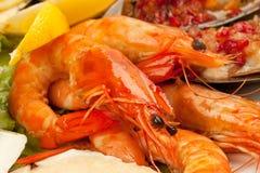 海鲜沙拉 库存图片