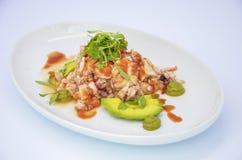 海鲜沙拉 免版税库存照片