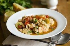 海鲜炖煮的食物 库存照片