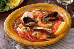 海鲜炖煮的食物 库存图片