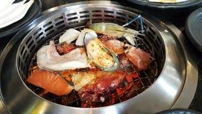 海鲜烤肉 免版税图库摄影