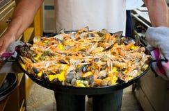 海鲜肉菜饭 免版税库存照片