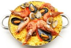海鲜肉菜饭 库存图片
