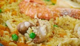 海鲜肉菜饭Marinera 免版税库存照片