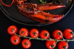 海鲜膳食豪华龙虾纤巧 免版税库存图片