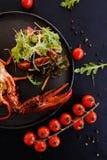 海鲜膳食豪华龙虾纤巧 免版税库存照片