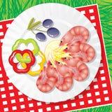 海鲜蔬菜 免版税库存照片